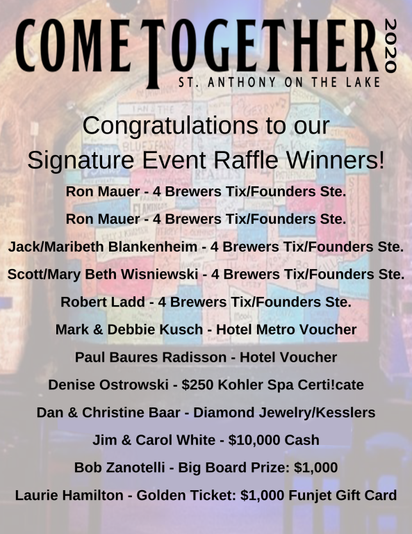 Come Together Raffle Winners!