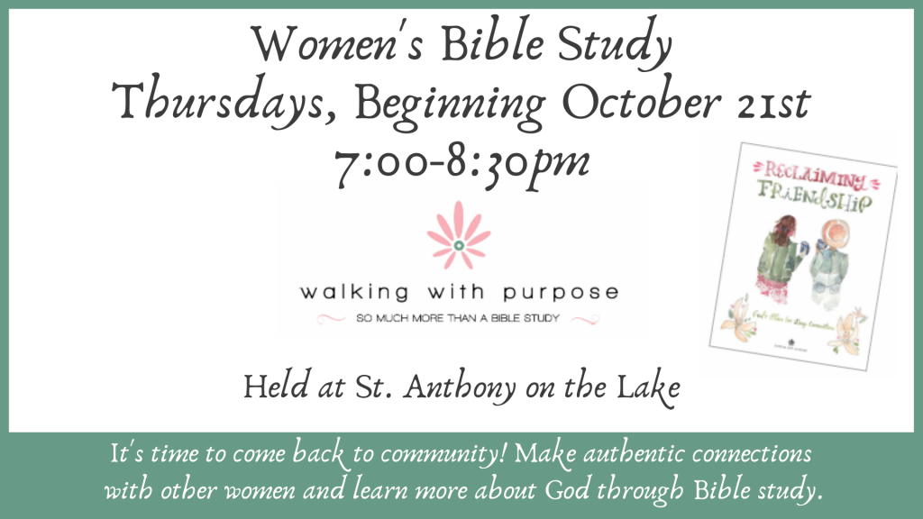 Women's Bible Study at St. Anthony on the Lake
