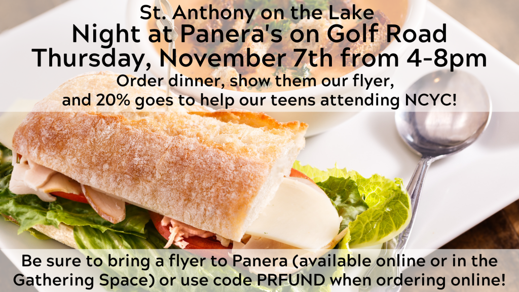 Panera Fundraiser for NCYC