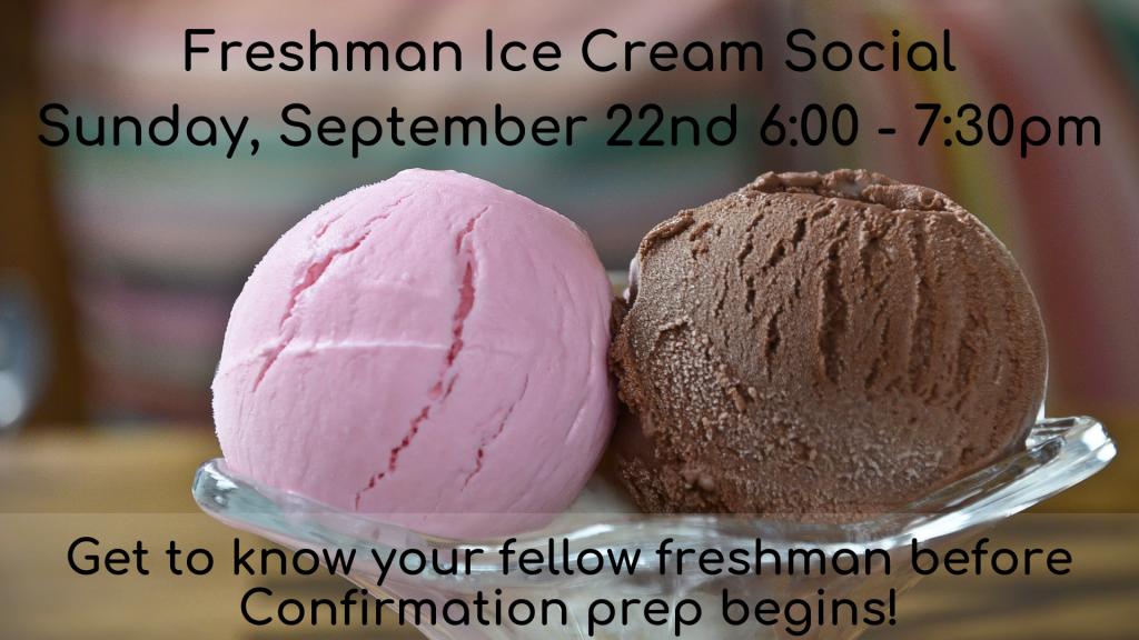 Freshman Ice Cream Social at St. Anthony on the Lake