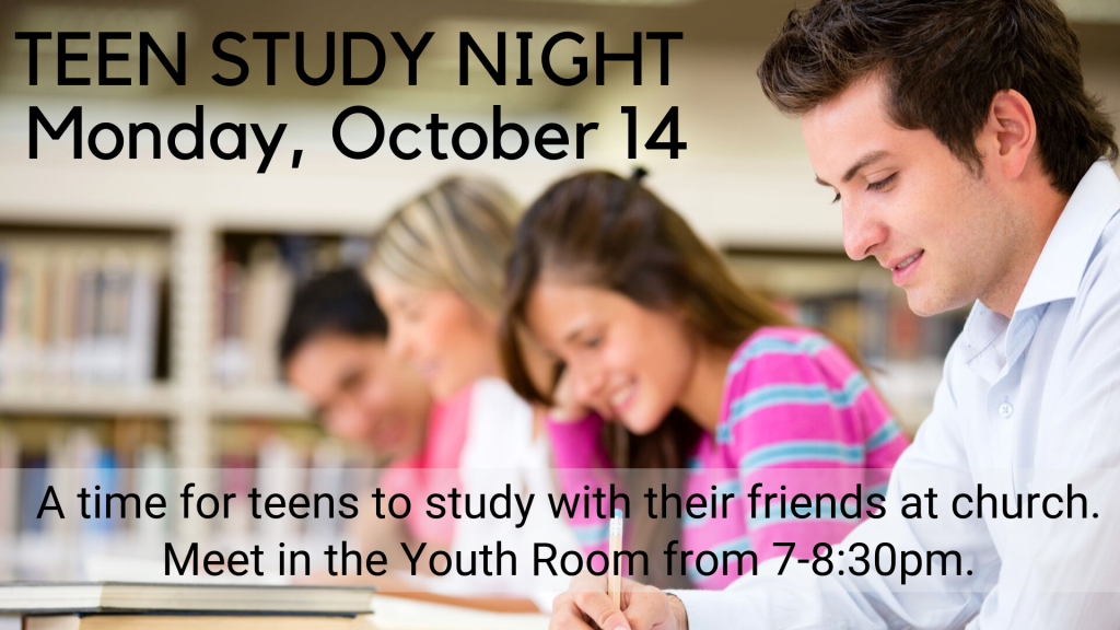 Teen Study Night at St. Anthony on the Lake