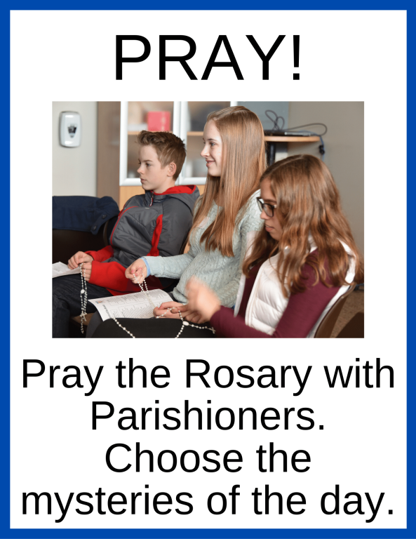 Pray the Rosary with parishioners Easter Season at Home St. Anthony on the Lake