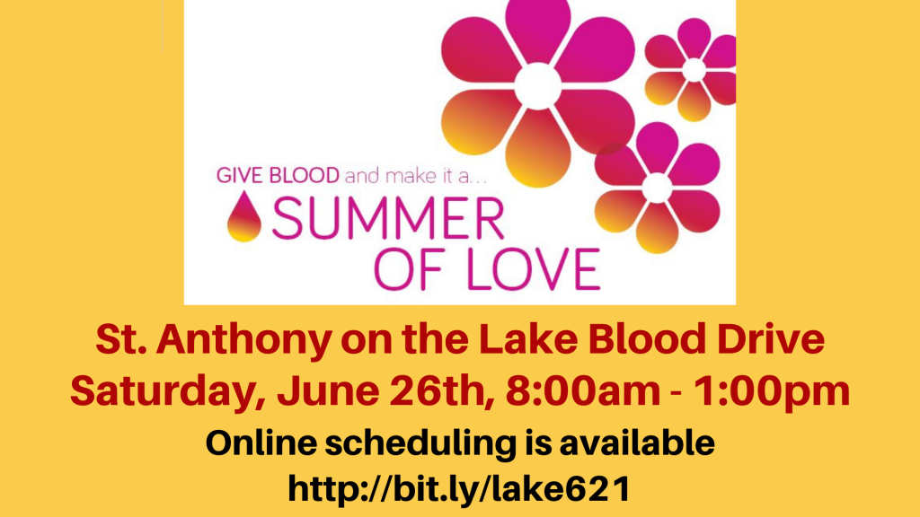 Blood Drive St. Anthony on the Lake