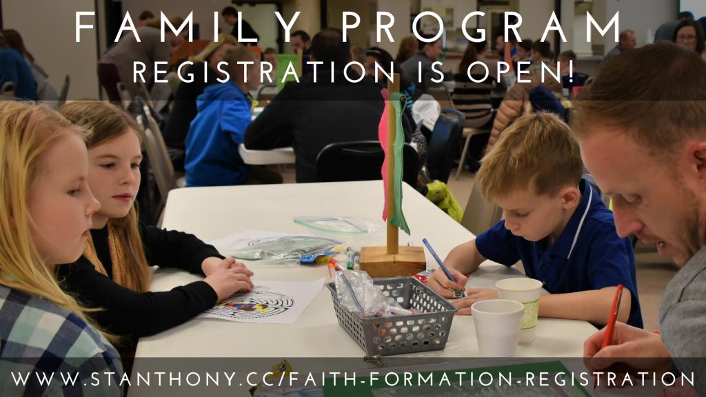Family Program Registration is Open