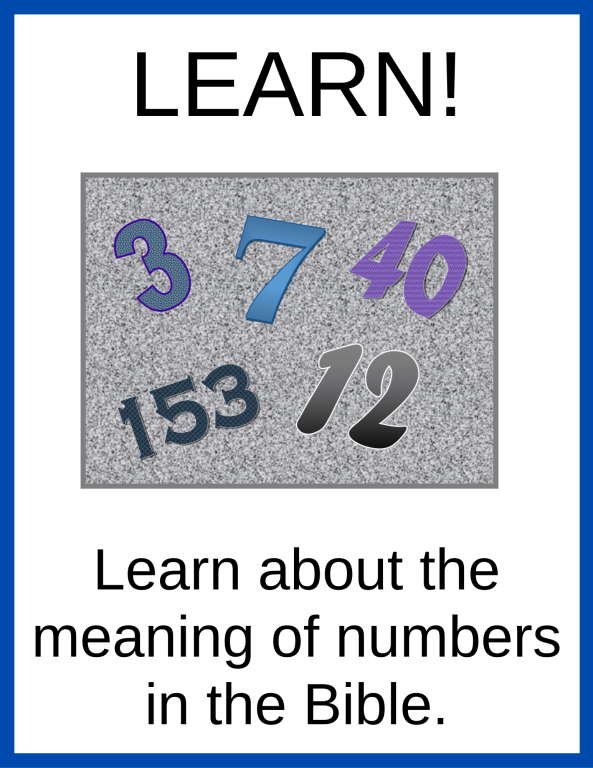 About the Meaning of numbers in the Bible