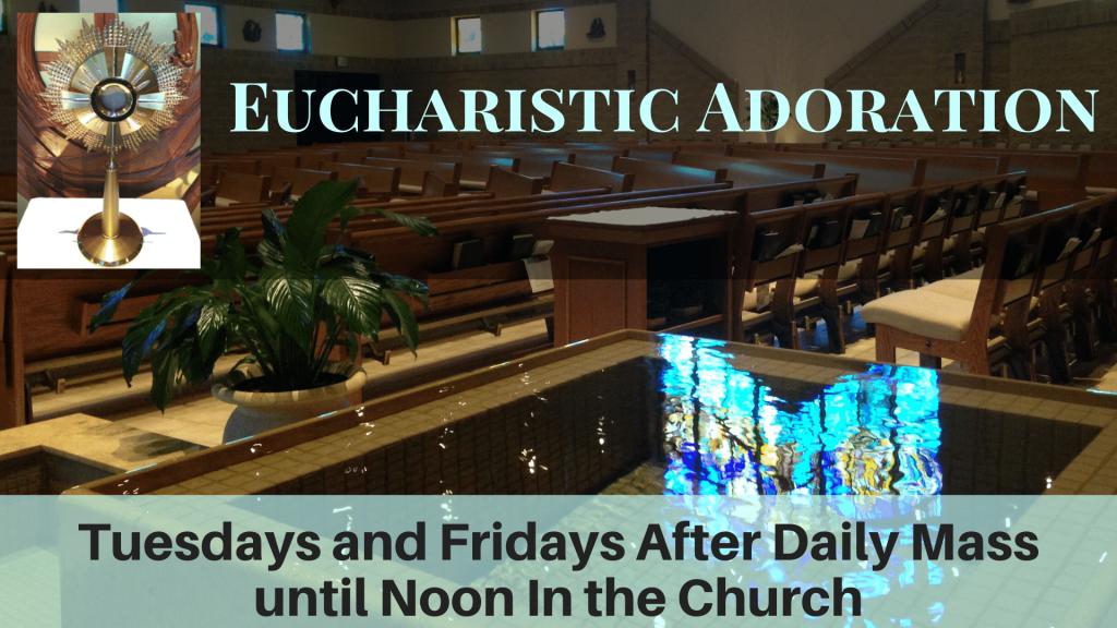Eucharistic Adoration Returns