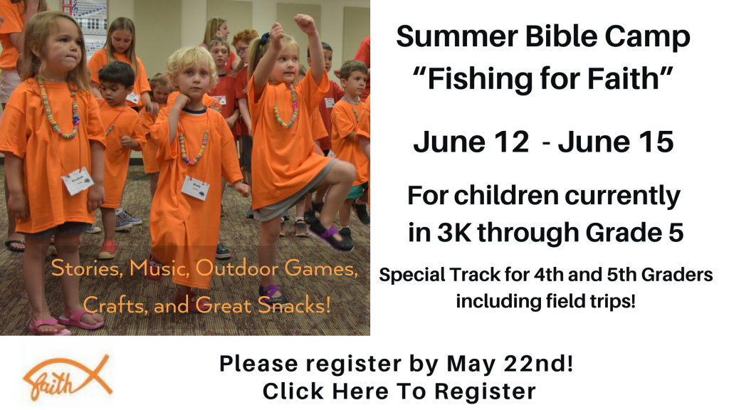 Summer Bible Camp at St. Anthony on the Lake