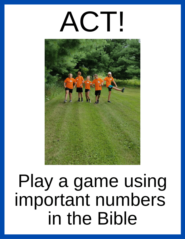 Play a game using important numbers in the Bible