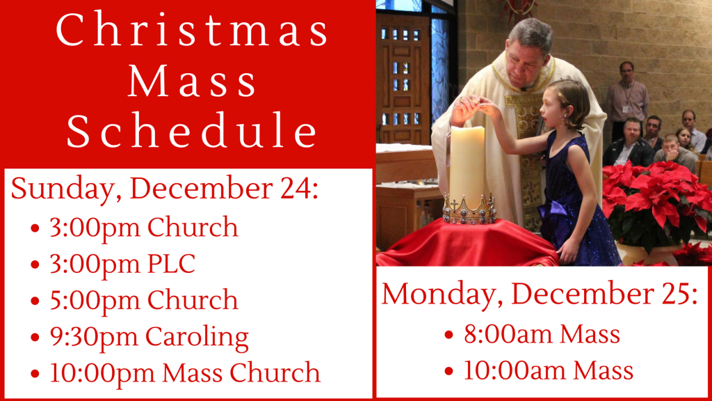 Christmas Mass Schedule at St. Anthony on the Lake