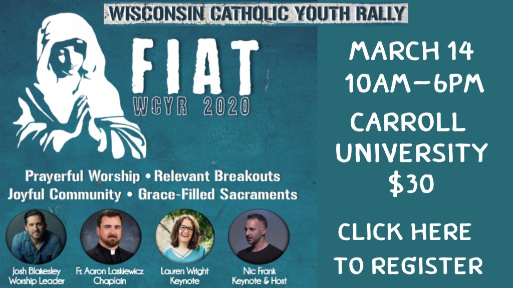 Wisconsin Catholic Youth Rally St. Anthony on the Lake
