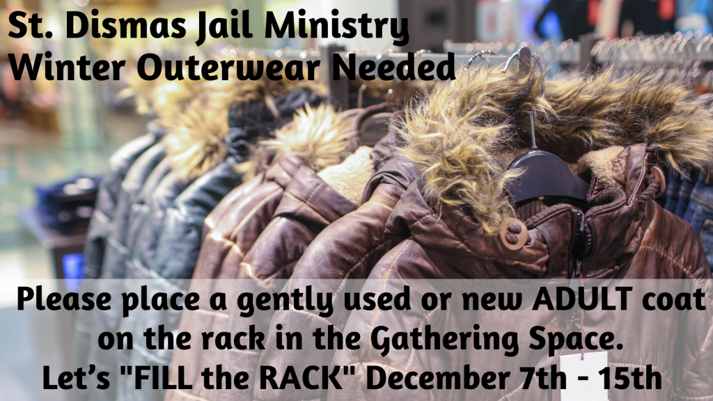 Fill the Rack Coat Drive at St. Anthony on the Lake