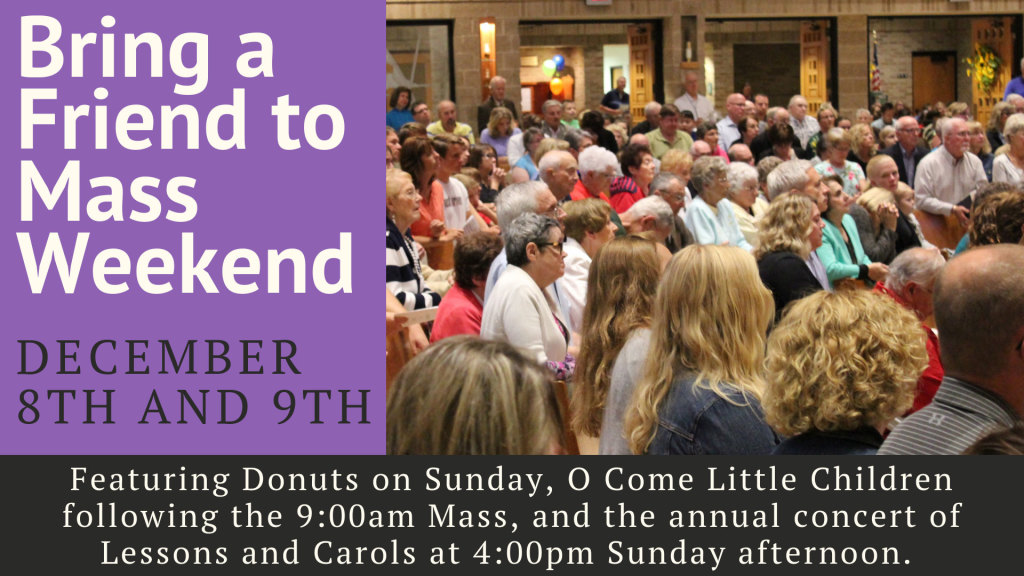 Bring a friend to Mass St. Anthony on the Lake