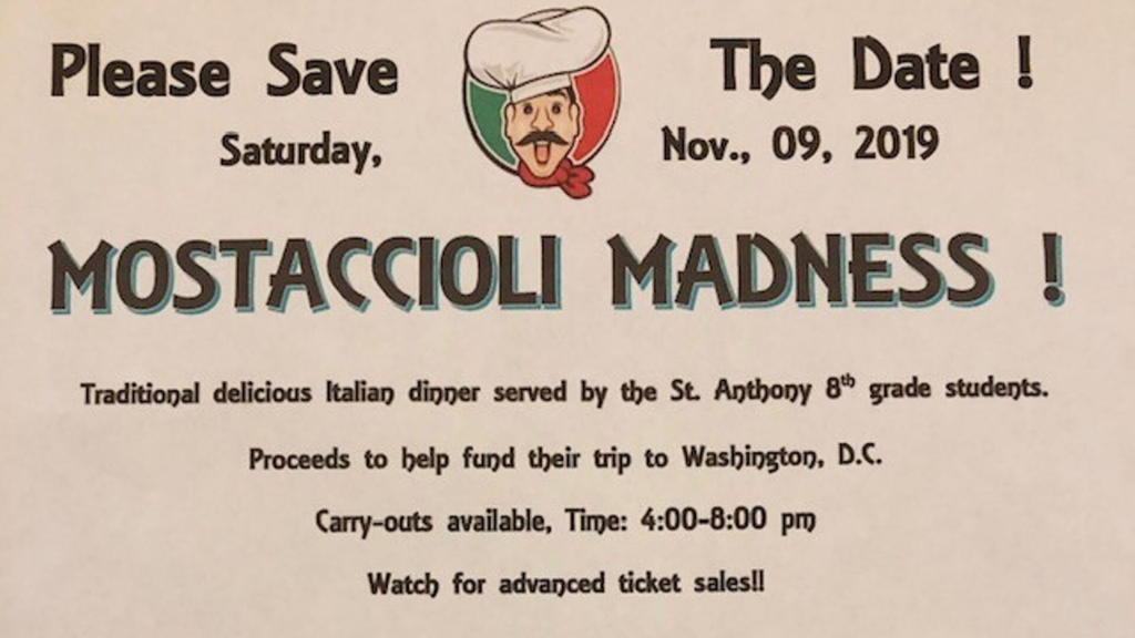 Mostaccioli Madness St. Anthony on the Lake