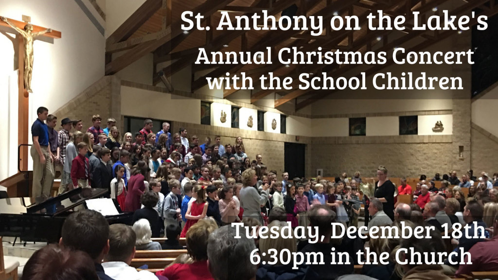 School Christmas Concert at St. Anthony on the Lake