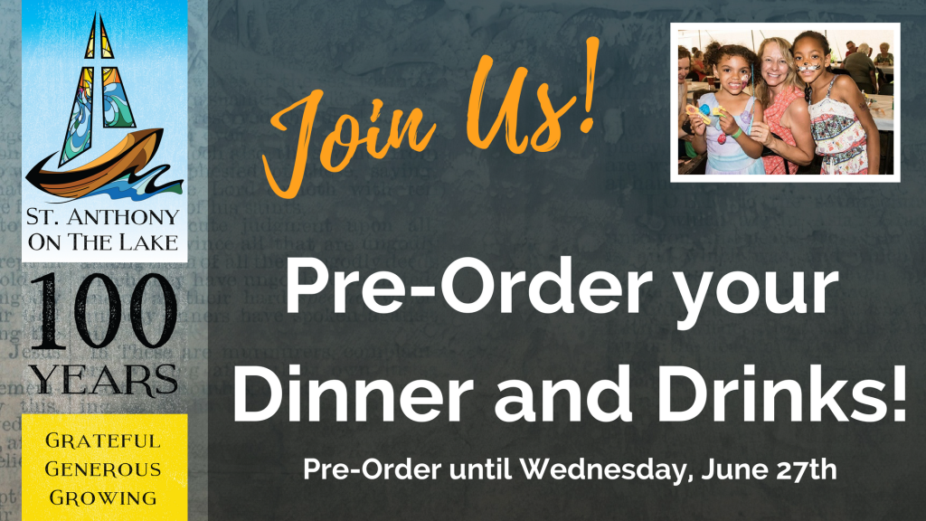 Join Us - Pre-Order Dinner and Drinks