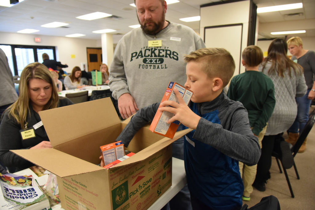 Food Box Packing at St. Anthony on the Lake
