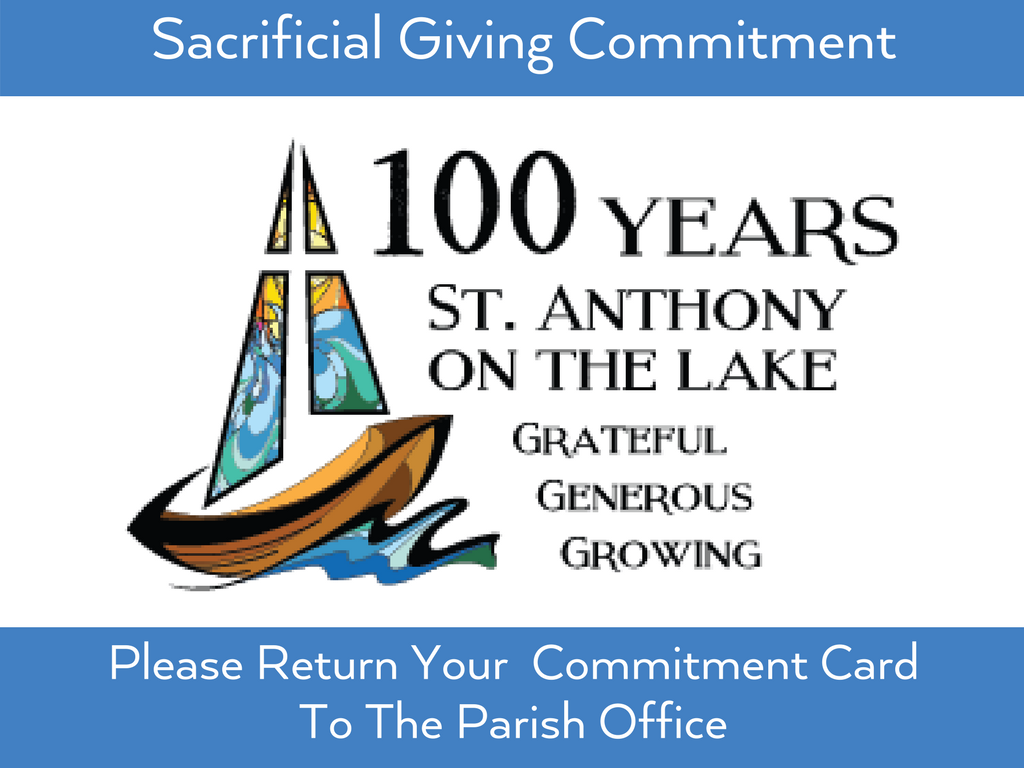 Sacrificial Giving at St. Anthony on the Lake