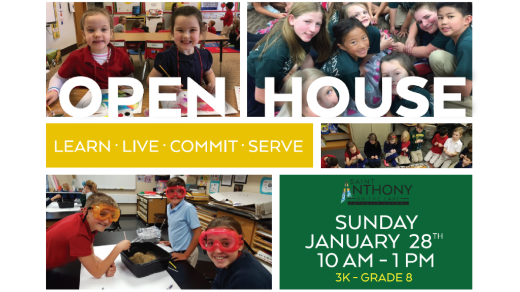 St. Anthony on the Lake Open House January 28th