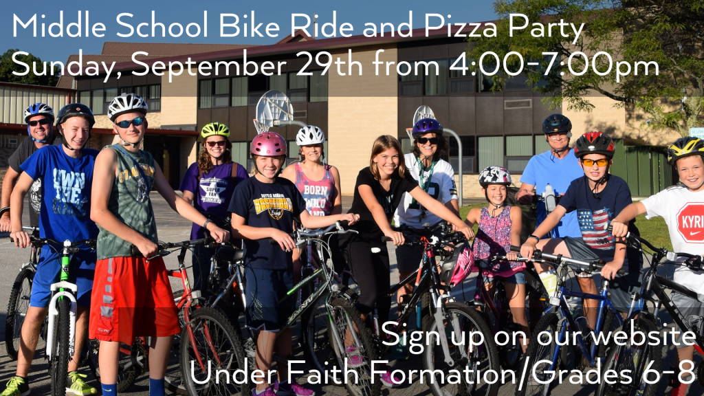 Middle School Bike Ride at St. Anthony on the Lake