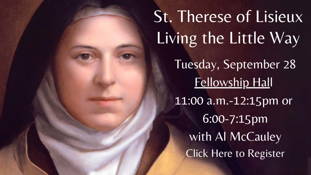 St. Therese of Lisieux Presentation with Al McCauley
