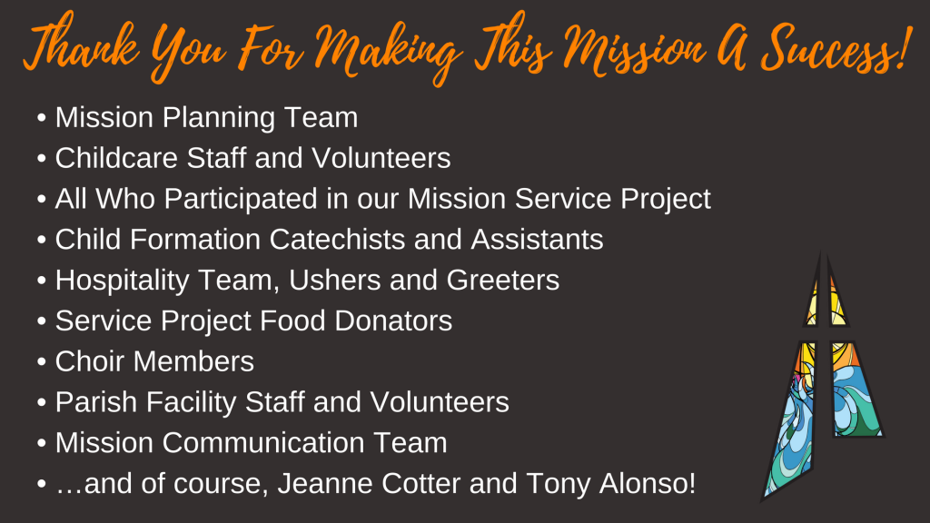 Thank you for making our Mission a Success!