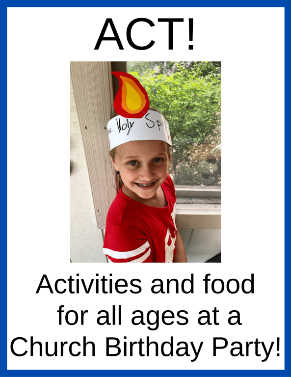 Activities and food for all ages at a Church Birthday Party