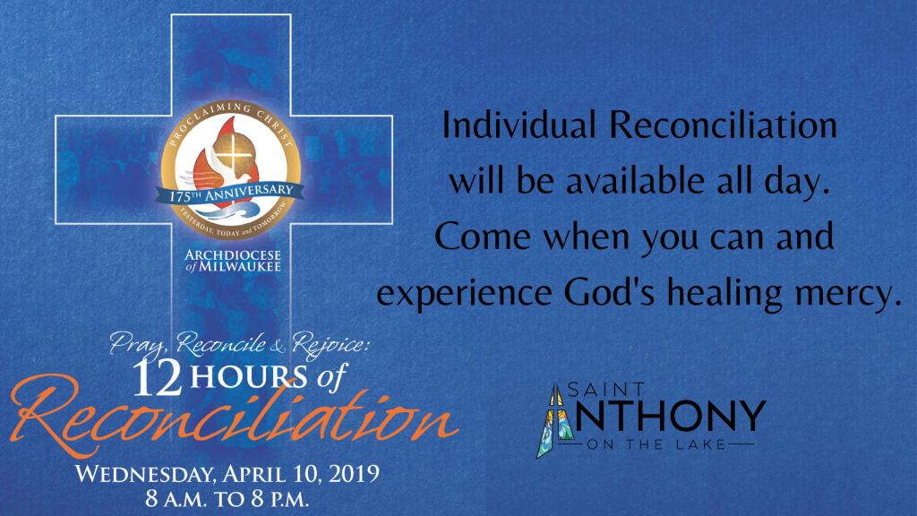 Lenten Reconciliation | St  Anthony on the Lake Catholic