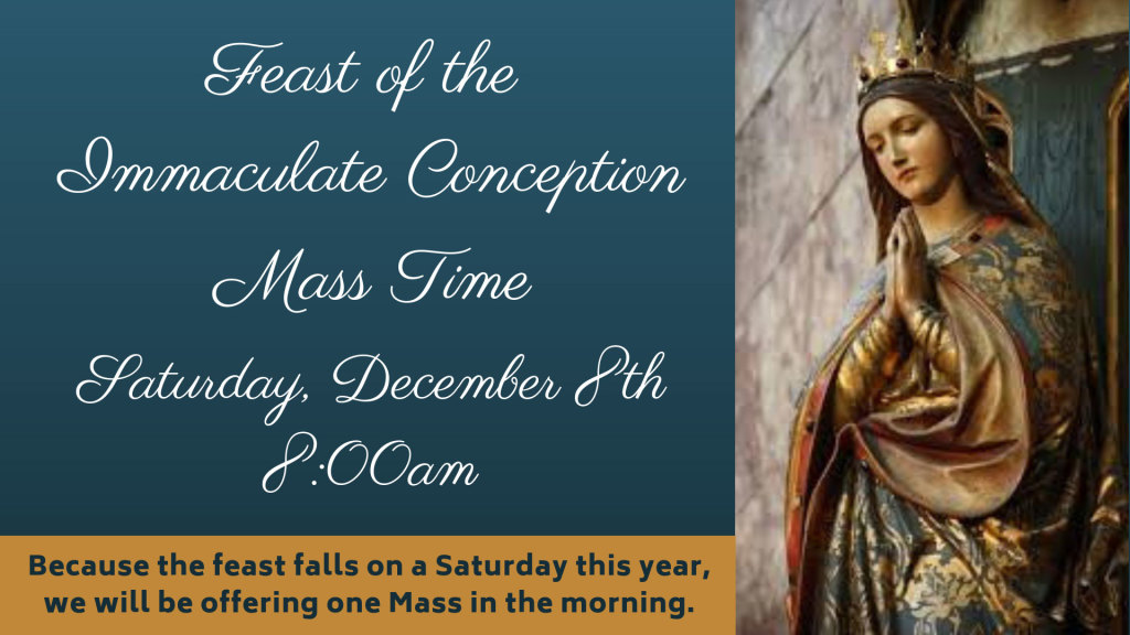 Immaculate Conception Mass at St. Anthony on the Lake