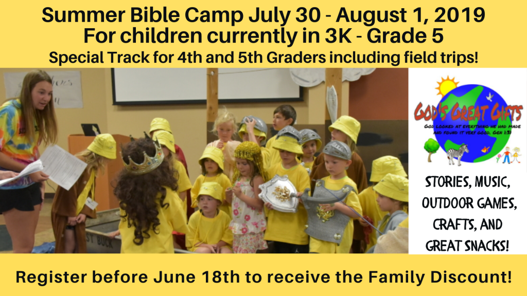 Bible Camp at St. Anthony on the Lake