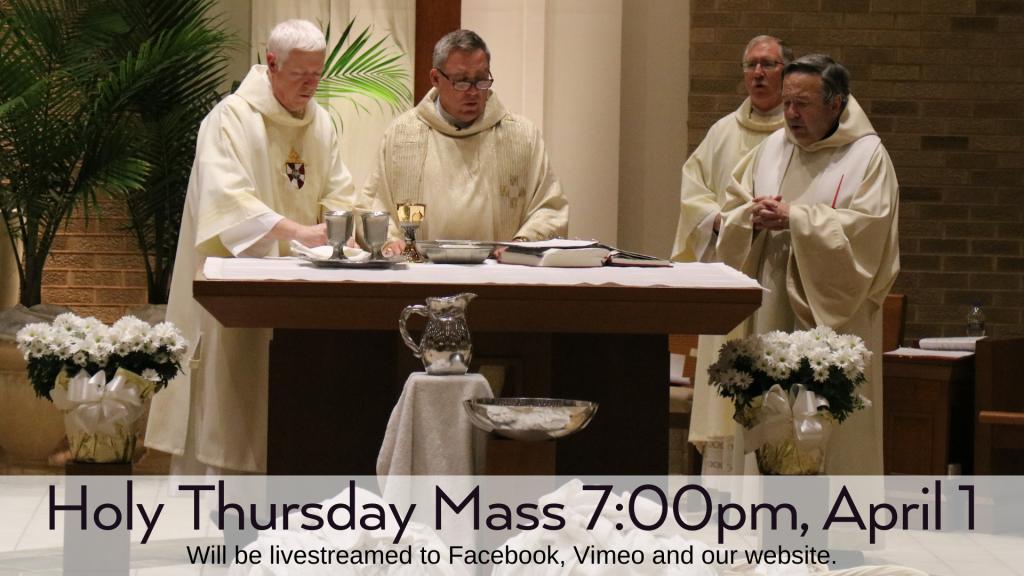 Holy Thursday Mass at St. Anthony on the Lake