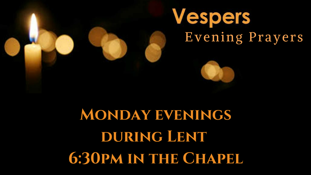 Vespers Evening Prayers at St. Anthony on the Lake