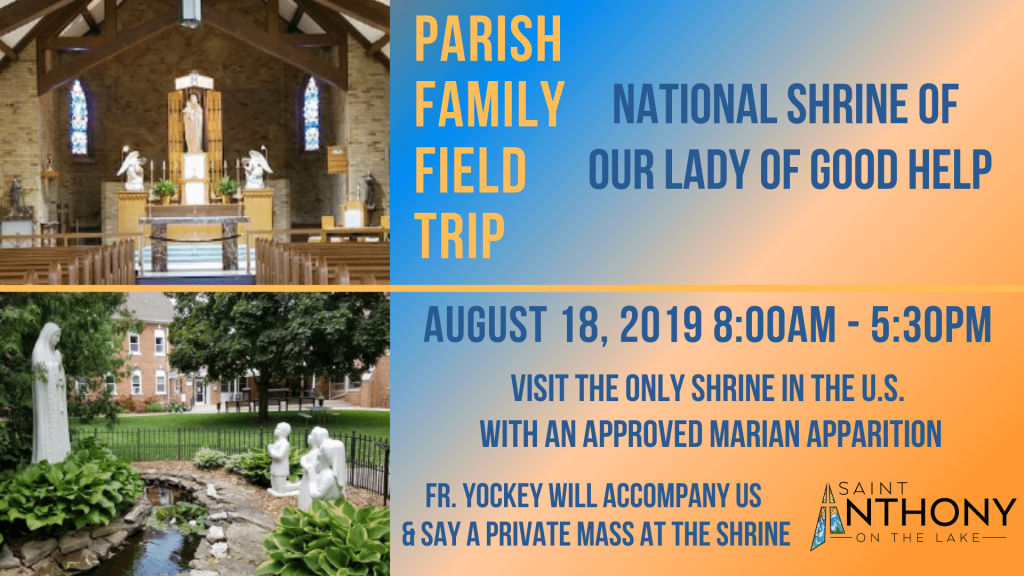 Parish Family Field Trip at St. Anthony on the Lake