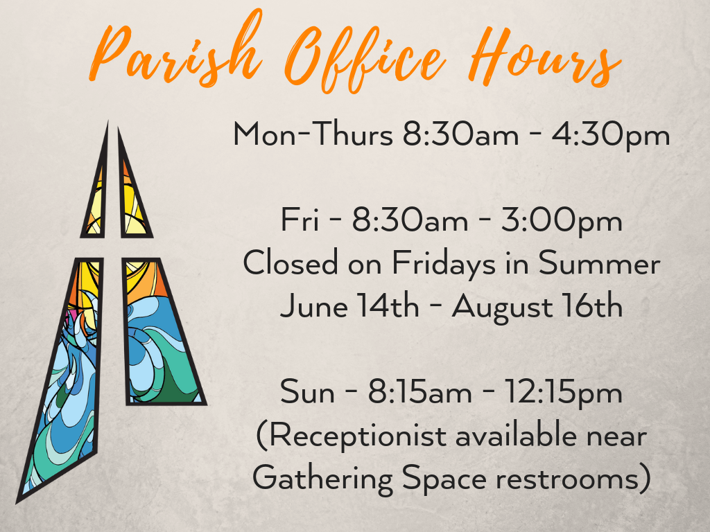 St. Anthony on the Lake Parish Office Hours