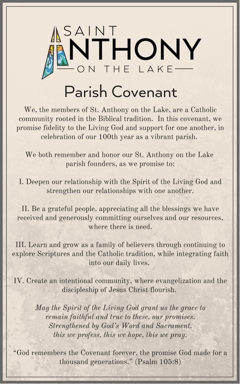 Parish Covenant St. Anthony on the Lake