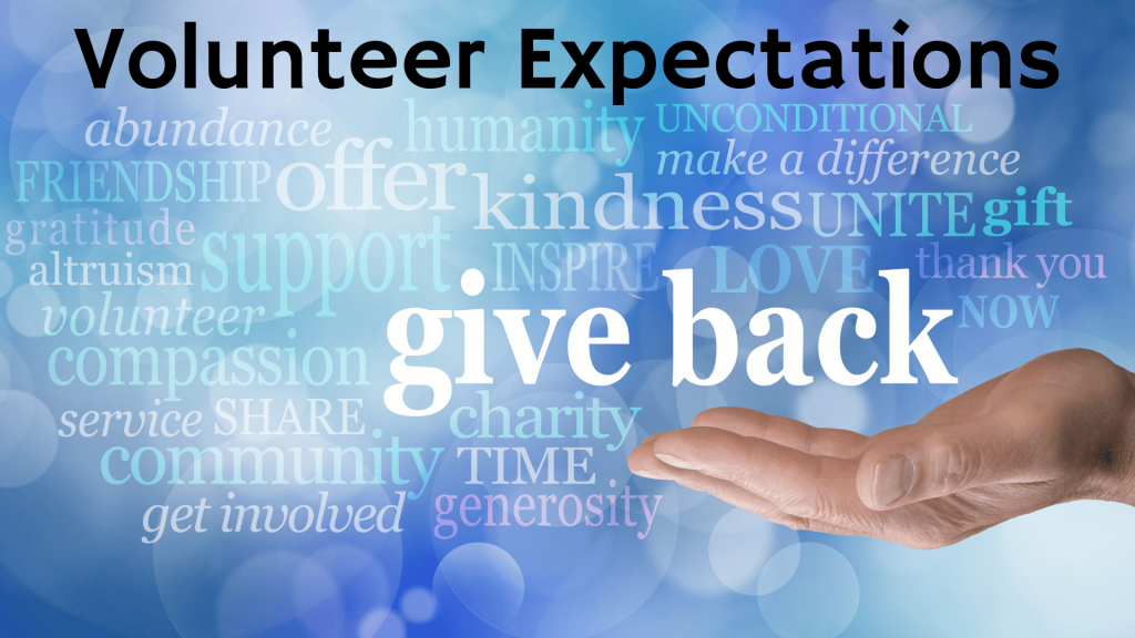 Volunteer Expectations at St. Anthony on the Lake