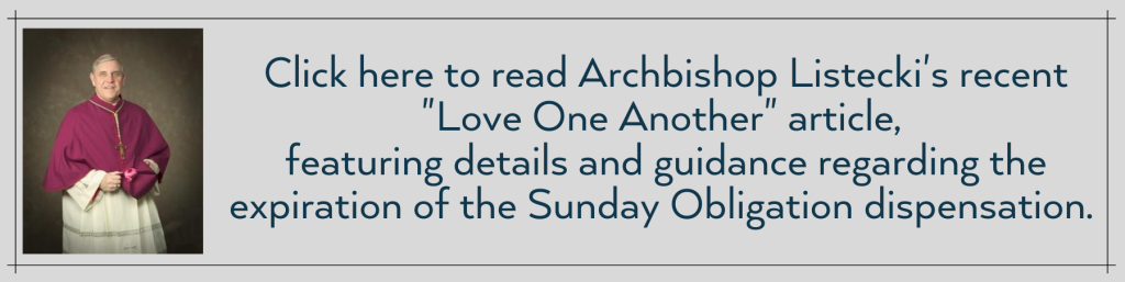 Read the Full Text of Archbishop Listecki's Announcement