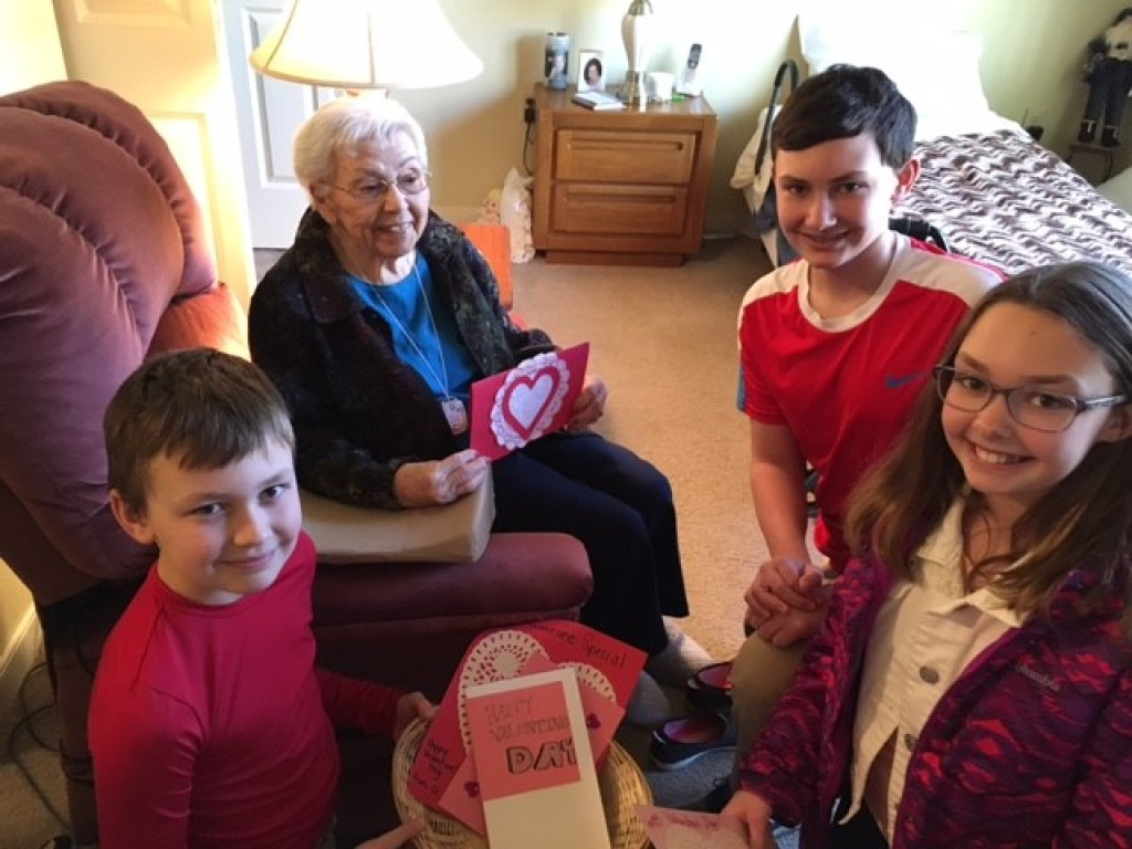 Valentines for Seniors with FaithWorks St. Anthony on the Lake