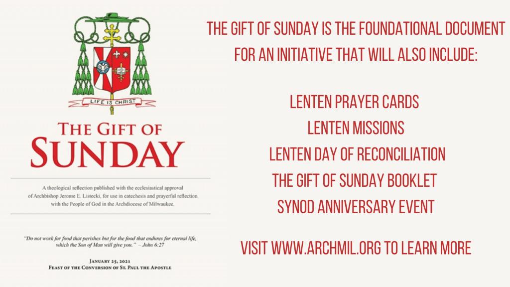 Gift of Sunday Lenten Initiative