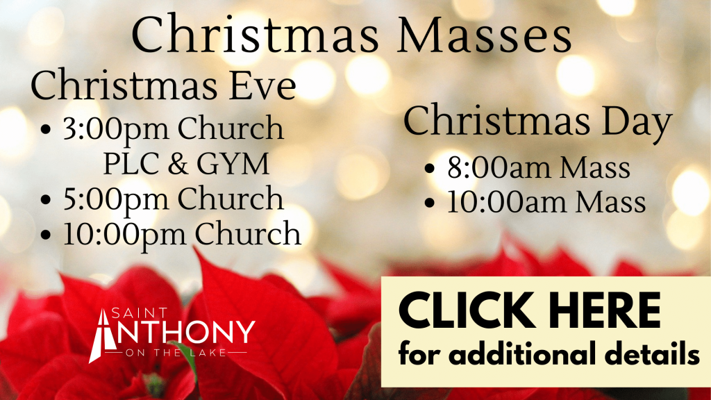 Christmas Masses at St. Anthony on the Lake