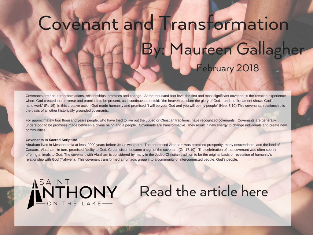 Covenant Article St. Anthony on the Lake