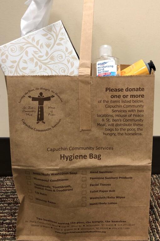 Capuchin Community Services Hygiene Bag