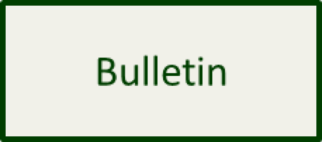 Bulletin button front