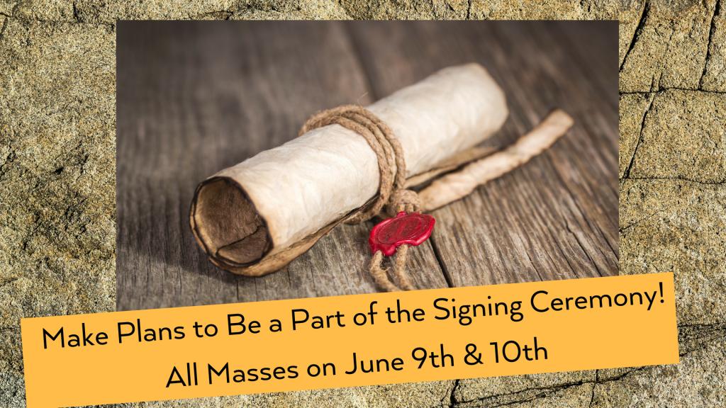 Signing Ceremony Parish Covenant