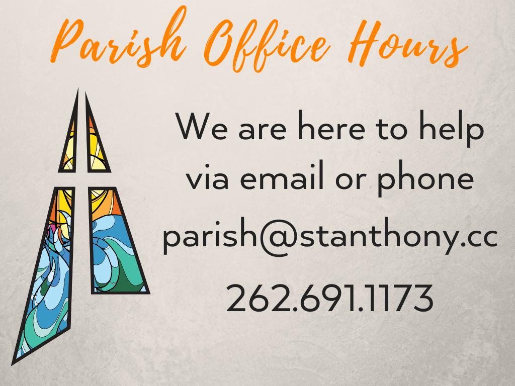 St. Anthony on the Lake Parish Office Hours