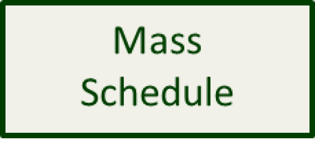 Mass Schedule Button Home Page