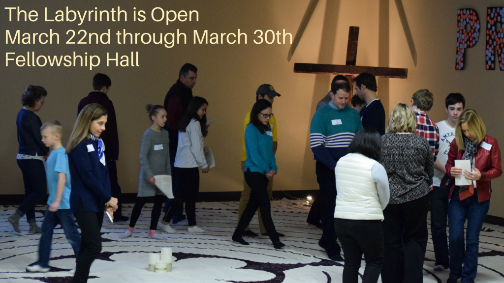 The Labyrinth Is Open 3/22 to 3/30