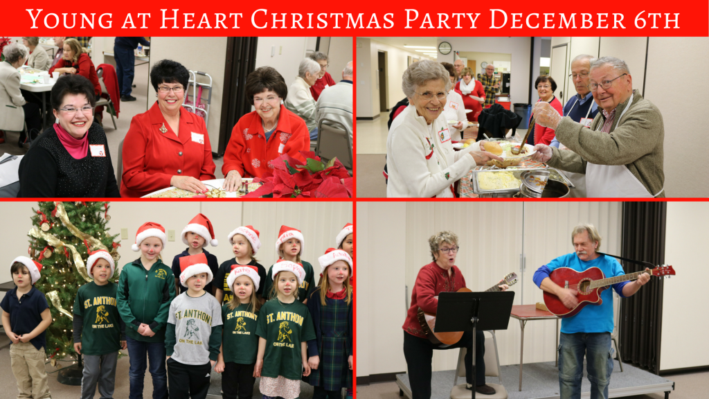 Young at Heart Christmas Party at St. Anthony on the Lake