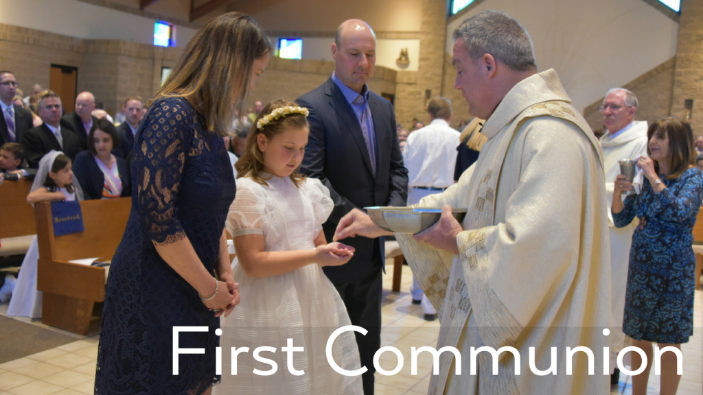 First Communion at St. Anthony on the Lake