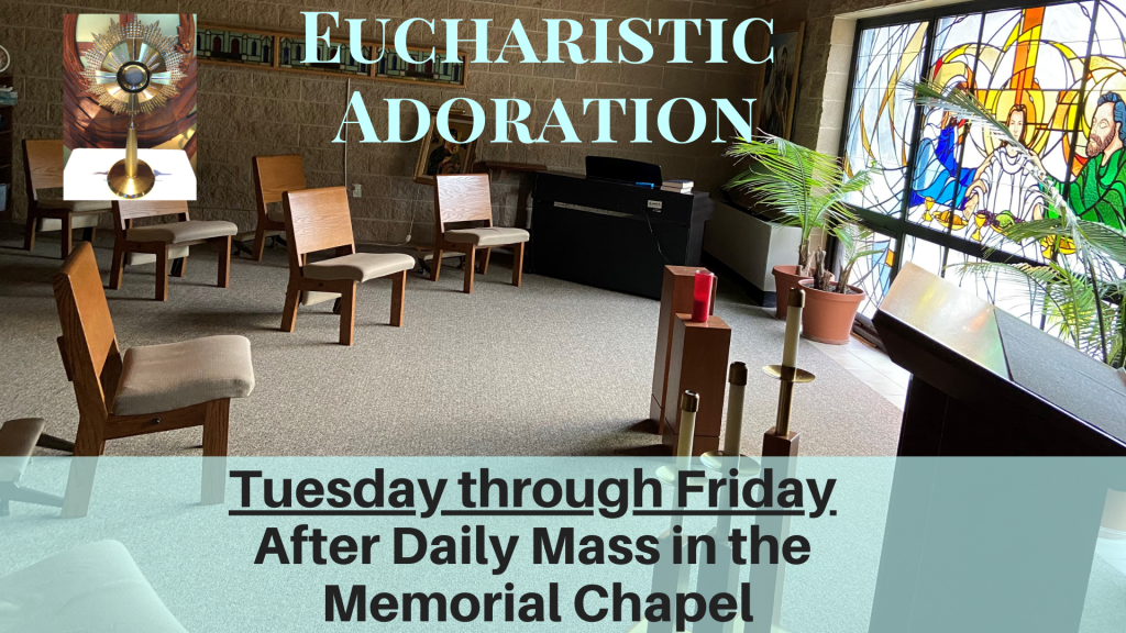 Eucharistic Adoration at St. Anthony on the Lake