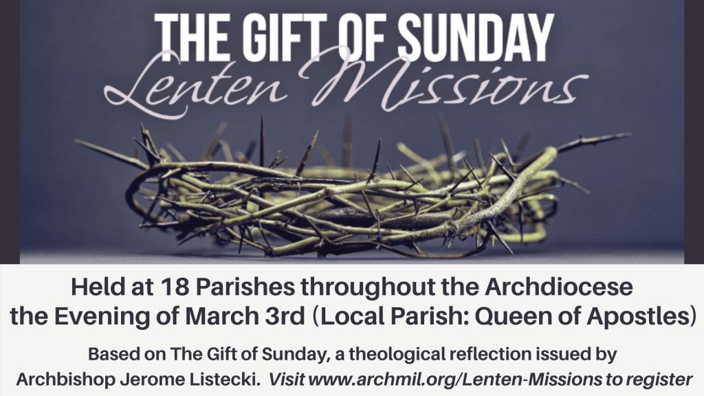The Gift of Sunday Lenten Mission